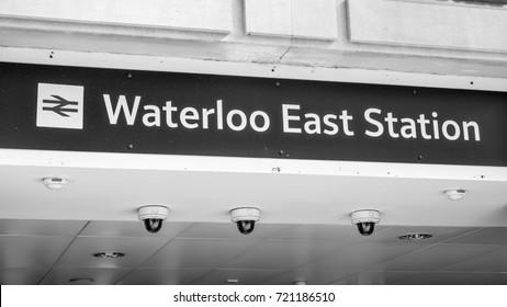 Waterloo East Station - LONDON / ENGLAND - SEPTEMBER 19, 2016