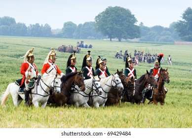 WATERLOO- JUNE 21:History enthusiasts from 24 countries  take part in the re-enactment of the battle of Waterloo that in 1815 ended Napoleon's imperial dream. June 21, 2009,Waterloo, Belgium