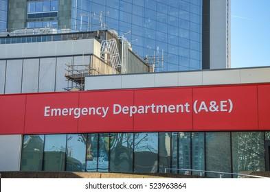 Waterloo, London - November 2016 - St.Thomas' Hospital accident and emergency