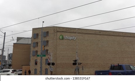 Waterloo, Ontario, Canada April 2019 Shopify internet eCommerce online shopping business office exteriors