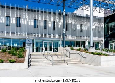 Waterloo, Ontario, Canada-September 30, 2019: Cowan Welcome Centre at Conestoga College's Waterloo Campus in Ontario, Canada. Conestoga College Institute of Technology is a public college.