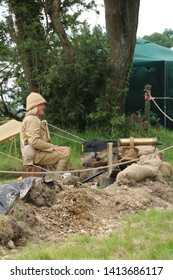 Waterlooville, UK - May 26, 2019: The Solent Overlord Military Collectors Club staging a re-enactment of a Boer war encampment. The aim is not to glorify war, but to educate people about this time