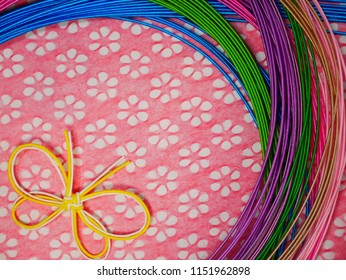 MAGENTA MIZUHIKI Package of 10 strands