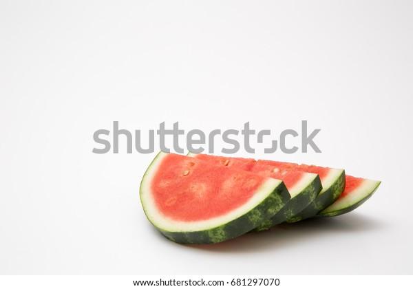 watermelon fresh cut red juicy summer food refreshment