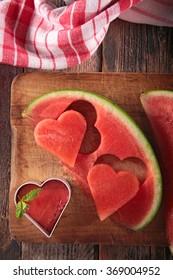 watermelon heart shape
