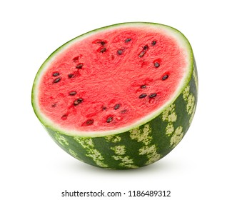watermelon isolated on white background, clipping path, full depth of field