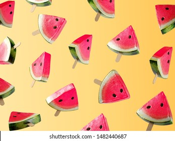 Watermelon juicy background style concept.