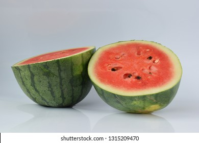 Watermelon lay on a white background