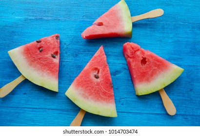 watermelon on a stick, ice cream