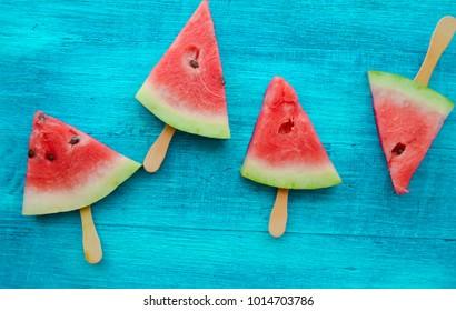 watermelon on a stick, ice cream