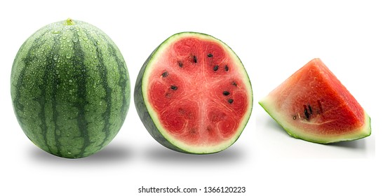 watermelon on a white background with clipping path, isolated