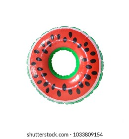 A watermelon pool floats isolate in white background.