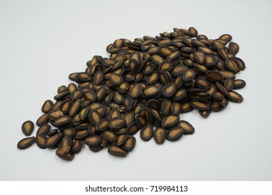 watermelon seeds on white background
