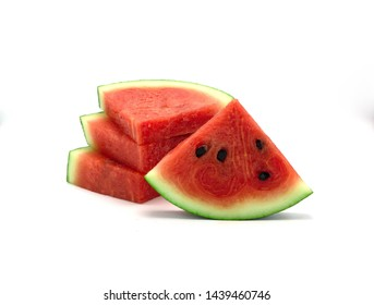 Watermelon sliced isolated on white background.