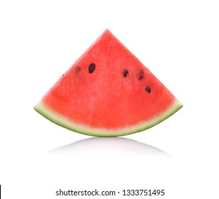 watermelon with slices isolated on white background