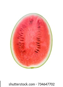 watermelon top view isolated on white background