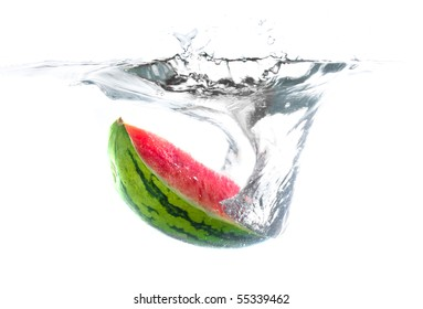 Watermelon in water