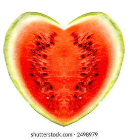 watermelons on a white background