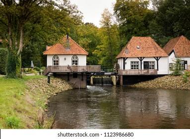 Watermill Den Helder located on the Boven-Slinge south of Winterswijk in the Gelder Achterhoek near the hamlet of Woold