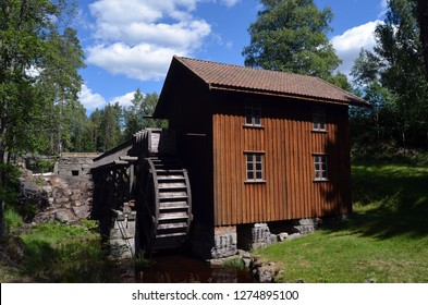 Watermill. One of the 2 working in Norway. Recovered by the Historical Society of Rakkestad. 24 June,2018. Degerness,Norway