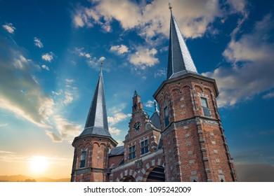 Waterpoort: famous landmark of Sneek - The Netherlands