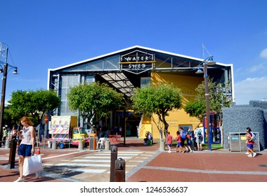 Watershed, an indoor retail complex of traditional hadn't made goods from around Africa, supporting small businesses. V&A waterfront, Dock road, Cape Town. Africa.December 2018