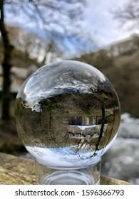 Watersmeet, Lynmouth, Exmoor, North Devon. Lensball.