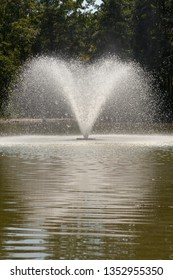 Waterspout fontain at a park