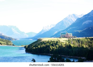 WATERTON, CANADA - 19 August 2013. Prince Of Wales Hotel in waterton CANADA