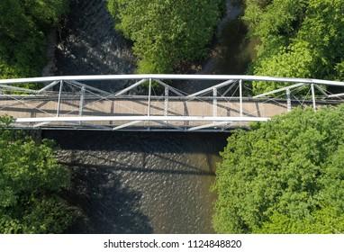 Waterville Bridge Aerial View Looking Down at Swatara Creek at Appalachian Trail Pennsylvania