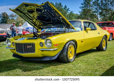 Waterville, Nova Scotia, Canada - September 14, 2019 : 1970 Chevy Camaro Z/28 at Rick Rood's Car Show in Annapolis Valley.