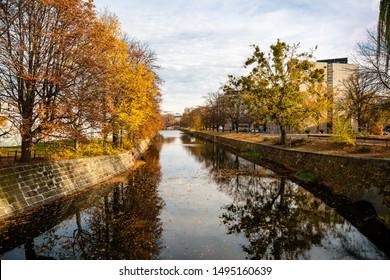 Waterway in Berlin in autumn