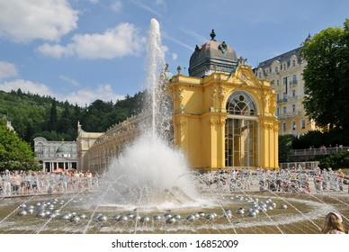 "waterworks in spa ""marianske lazne"""