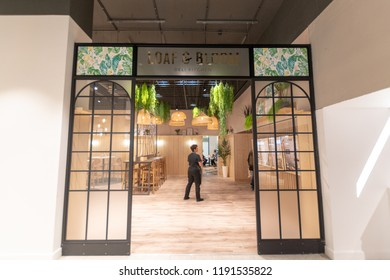 Watford, Hertfordshire / UK - September 27 2018: Loaf and Bloom in  the new style Debenhams store in Watford. Also the first store in the new Intu Shopping Centre extension.