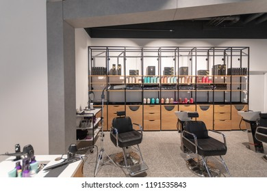 Watford, Hertfordshire / UK - September 27 2018: Salons in the new style Debenhams store in Watford. Also the first store in the new Intu Shopping Centre extension.
