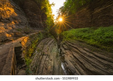 Watkins Glen sunrise in the Gorge Trail