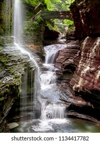 Watkins Glen waterfall upstate New York