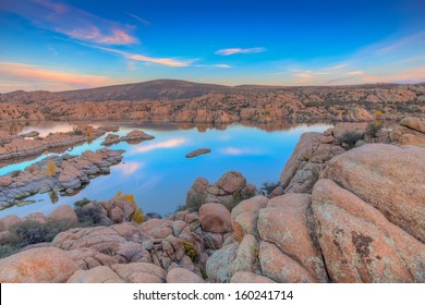 Watson Lake Prescott Arizona Evening Landscape