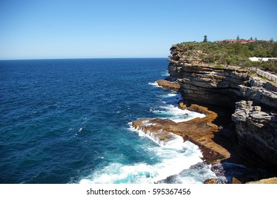 Watsons bay of Sydney NSW, cliff of gap park
