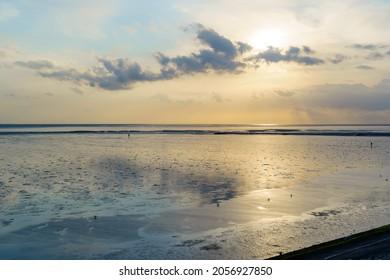 Wattenmeer, mud tideland in North Sea, Germany. Nordsee, Watt.