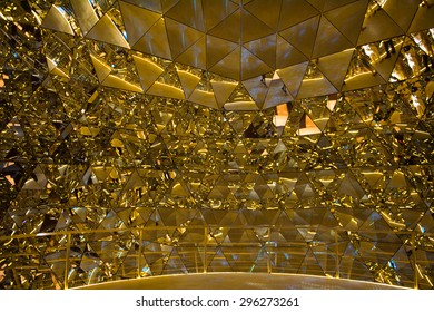 WATTENS, AUSTRIA - JULY 4, 2015: Crystals of the Swarovski Crystal Worlds (Kristallwelten) museum. Swarovski is an Austrian producer of luxury cut lead glass found in 1895