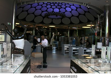 WATTENS, AUSTRIA - May 07, 2009: Interior of the Swarovski Crystal Worlds (Kristallwelten) museum. Swarovski is an Austrian producer of luxury cut lead glass found in 1895