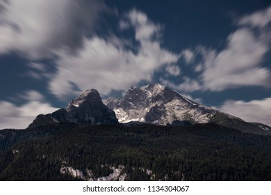 Watzmann mountain near Konigssee in Berchtesgaden