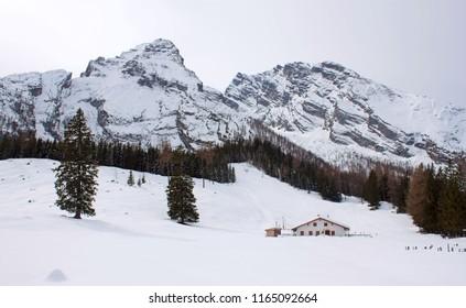Watzmann peak in winter time