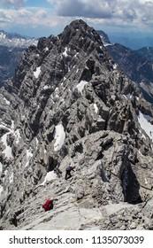 The Watzmann southern peak near Berchtesgaden in Barvaria, Germany