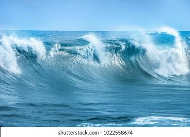 Wave in Atlantic Ocean
