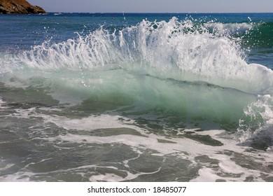 The wave in the Black Sea. Bulgaria.