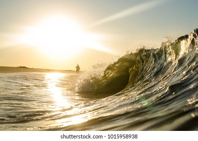 A wave breaking at Sunrise in New York