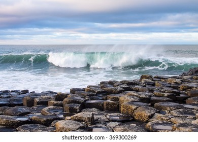 Wave at Giant's Causeway, Northern Ireland