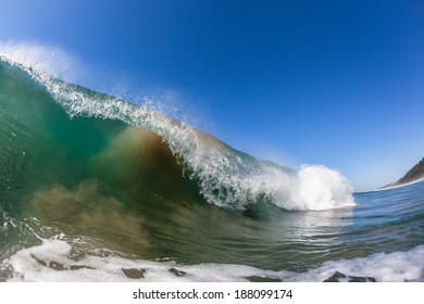 Wave Hollow Crashing Water Ocean waves crashing  water power on shallow reefs nearby beach coastline